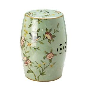 Merveilleux Floral Ceramic Garden Stool Outdoor Decorative Patio Side Table