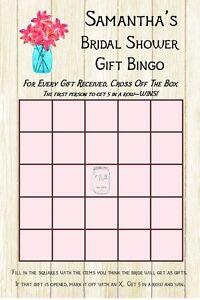 image is loading 14 personalized bridal shower gift bingo bridal shower