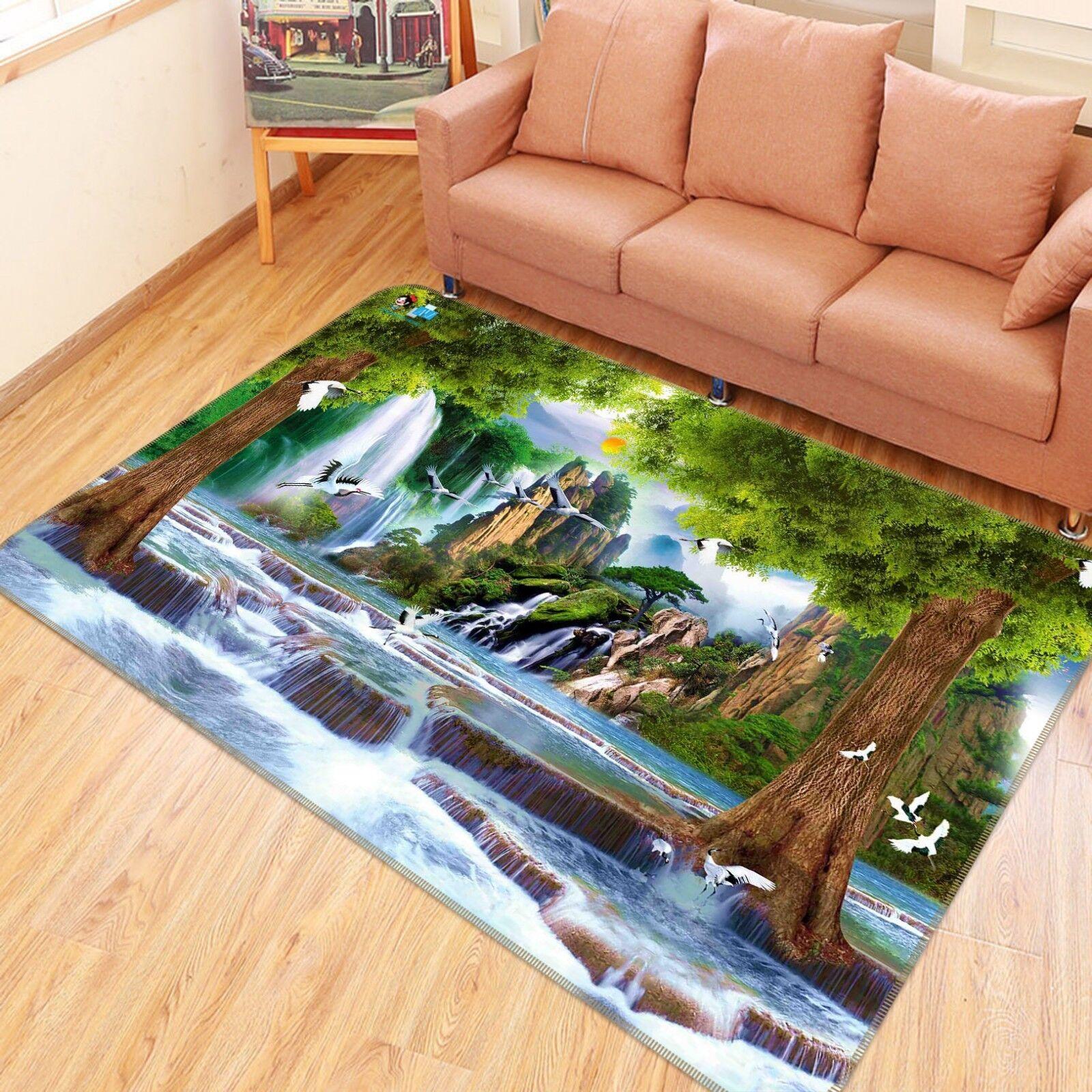 3d país de maravillas 6 antideslizante alfombra de maletero calidad elegante alfombra de
