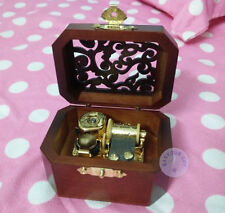 "Play ""ROMANCE DE L'AMOR"" Wooden Vintage Music Box With Sankyo Musical Movement"