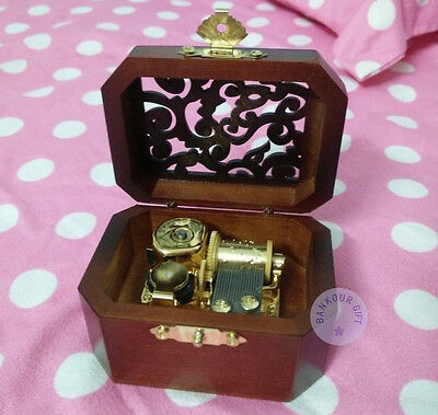 "Music Boxes ""howl's Moving Castle"" Wooden Vintage Music Box With Sankyo Musical Movement Discounts Sale"