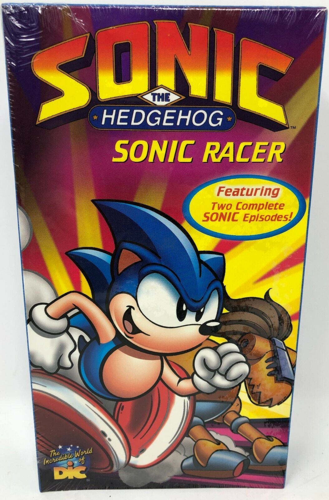 New Sealed Sonic The Hedgehog Sonic Racer Vhs Video Movie 2 Episodes 0031398791737 For Sale Online