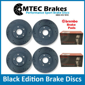 Focus-ST225-Delantero-Trasero-Mtec-Negro-Edicion-Disco-De-Freno-Brembo-Pastillas-Perforado-Ranurado