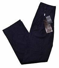 "GIORGIO ARMANI BLACK LABEL Couture Dress Pants, Navy Blue 28"" ITALY $1095"