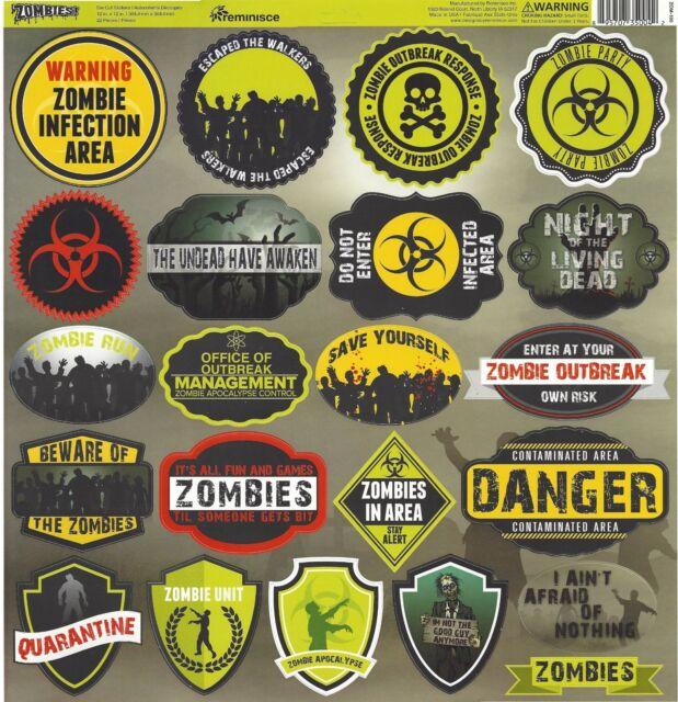 Zombies Paper Set Reminisce Paper 4 Sheets