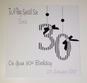 Image Is Loading Personalised 30th Birthday Card Gift Wallet Nephew Son