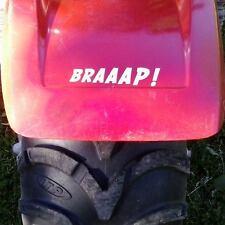 Motocross 2 stroke atc atv custom vinyl BRAAAP! decal sticker