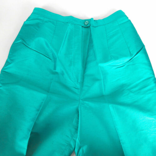 turchese reversibile Pantalone Bob S di 2 Mackie reversibile Art Wearable in Pc seta Bwafw