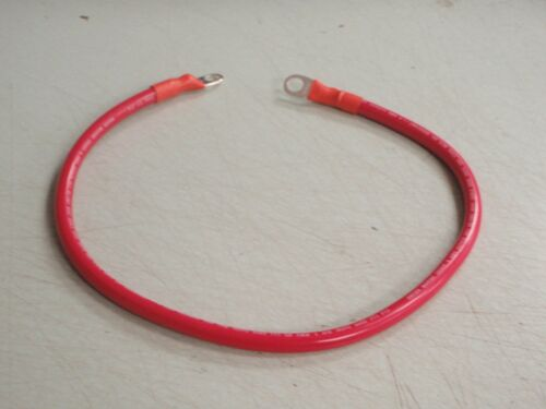 "BATTERY CABLE 4 GAUGE 24/"" RED MARINE BOAT RV COPPER RNR  3//8/"" LUGS WIRE BOAT"