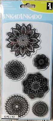 Inkadinkado Decorative Doilies Clear Stamp Set 60-31316 Vintage Lace Fancy Card