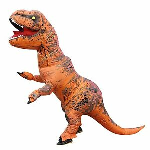 Image is loading T-Rex-Inflatable-Dinosaur-Costume-Unisex-Adults-Teens-  sc 1 st  eBay : ebay dinosaur costume  - Germanpascual.Com