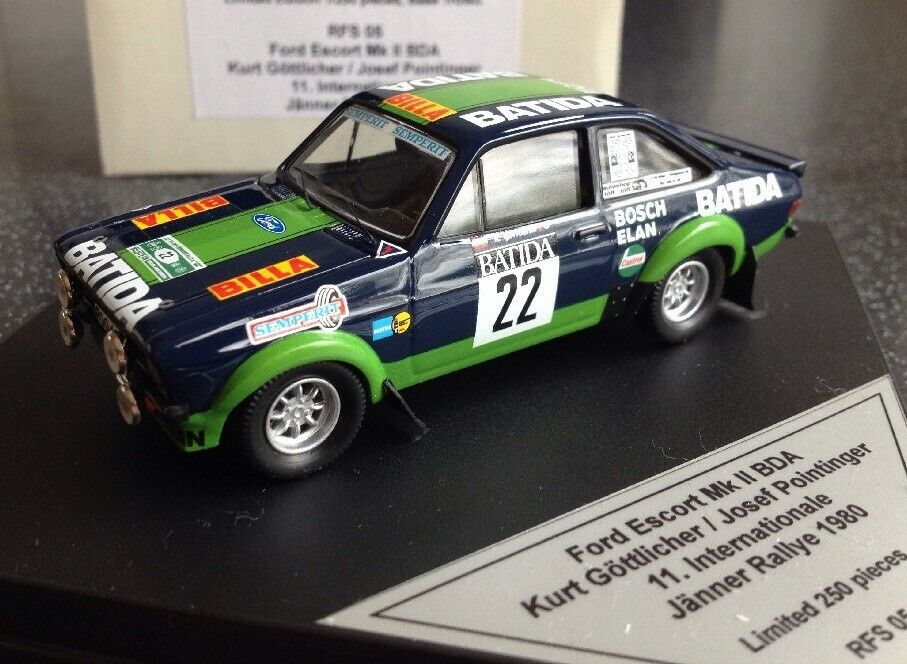 Trofeu 1 43 Rare RFS 05 Ford Escort Mkll BDA Gottlicher Pointinger Janner Rallye