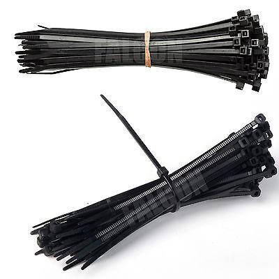 200mm X 2.5mm Black Cable Tie - Cable Tidy / Organiser - Zip Tie - Ties - Tv