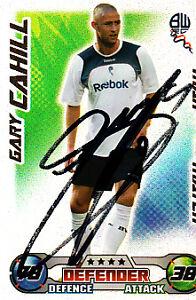 Bolton-Wanderers-F-C-Gary-Cahill-Hand-Signed-08-09-Championship-Match-Attax-MOTM
