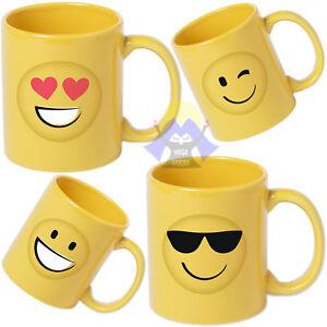 TAZZA-in-CERAMICA-da-COLAZIONE-Faccine-SMILE-per-LATTE-Emoticon-400-ML-Emoji-MUG