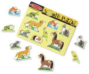 Melissa & Doug Pets Sound Puzzle Pré-école De Jeunes Enfants Jouets En Bois Bn-afficher Le Titre D'origine