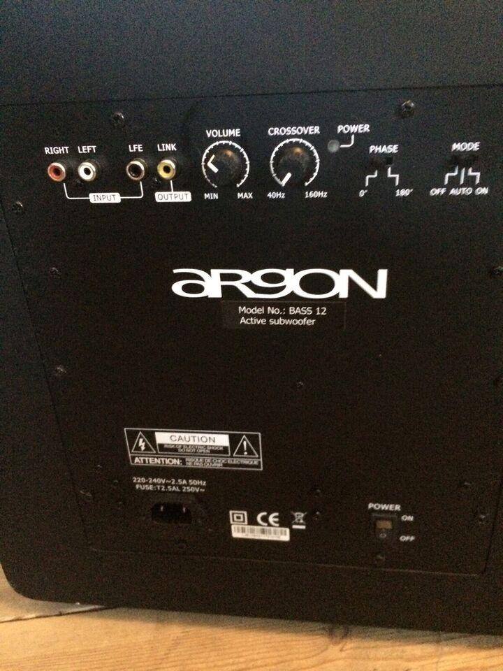 Subwoofer, Argon, Bass 12