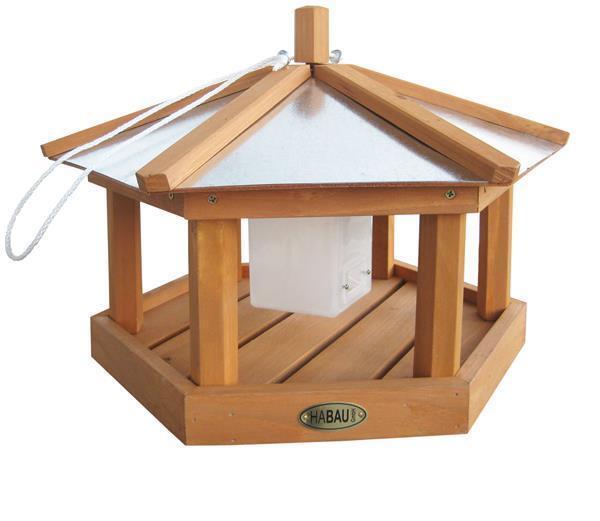 Vogelhaus   Futterhaus Habau Habau Habau Kohlmeise mit Silo Ø40x28cm | Feine Verarbeitung  | Bekannt für seine gute Qualität  | Neuheit Spielzeug  e7b738