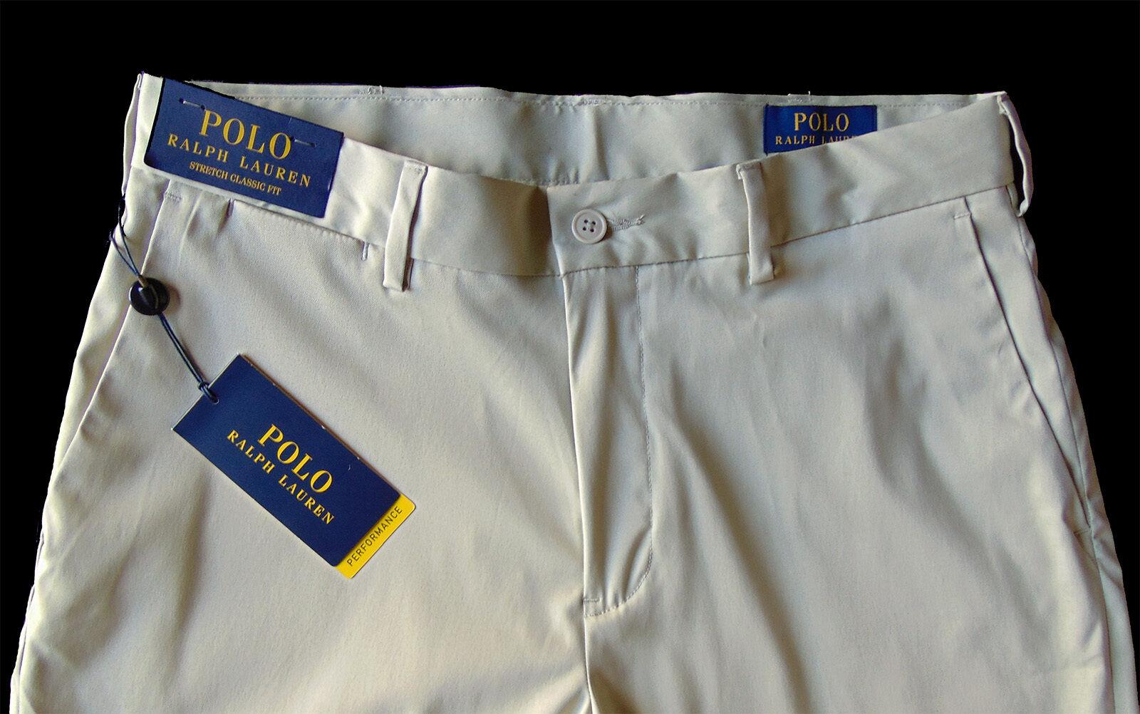 Men's POLO RALPH LAUREN Khaki Pants 30x30 Stretch Classic Fit Performance NWT