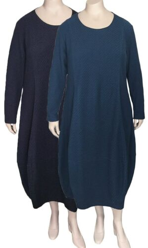 NWT RISONA by Tomo Textured Cotton Dress Black or Blue Size 5 /& 6 Sizes 16 to 22