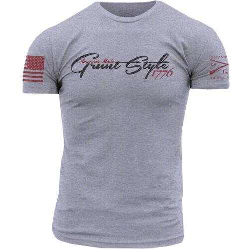 Grunt Style GSAM 76 T-Shirt Heather Gray