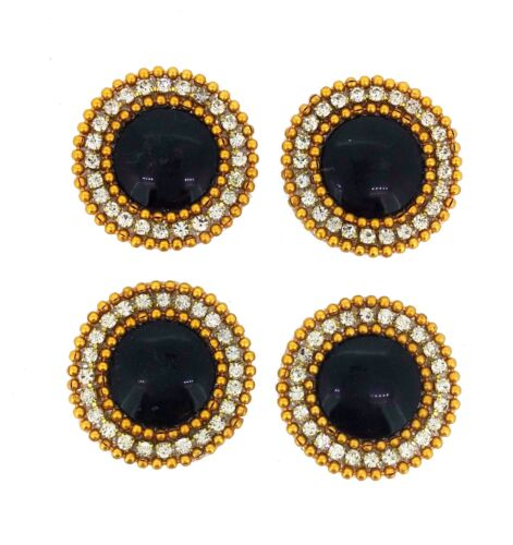 Indian Round Appliques Sewing Craft Fashion Accessories Beaded Motifs DIY 4pc