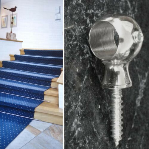 Escaliers tiges ringöse LAITON BRILLANCE Nickelés pour ø 11mm ösenschraube Argent