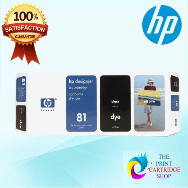 New & Original HP 81 C4930A Black Dye Ink Designjet 5000 5500 680 ml