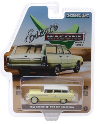 Heckfenster öffnet* Greenlight 1:64 *SALE* 1955 Chevrolet Handyman Nomad Yellow