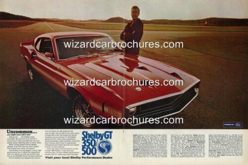 500 A3 POSTER AD SALES BROCHURE ADVERTISEMENT 1969 FORD MUSTANG SHELBY GT 350