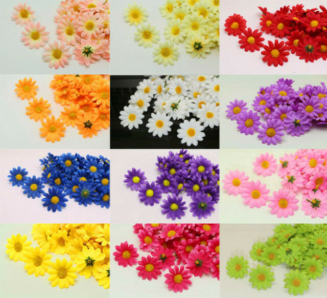 50x 4cm Gerbera Daisy Heads Artificial Silk Flower for Wedding Party Home Decor