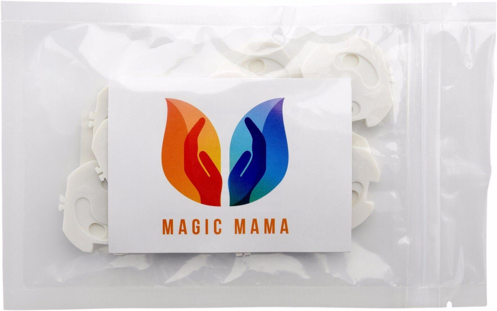 DOPPELT SICHER Magic Mama Steckdosensicherung zum KLEBEN UND KLEMMEN