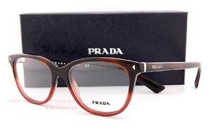 4e185aa6bf00 Brand New Prada Eyeglass Frames PR 14RV TWC Red Havana For Unisex ...