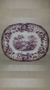 Tonquin-Royal-Staffordshire-Clarice-Cliff-Oval-Serving-Platter-Purple-11-034-x9-034