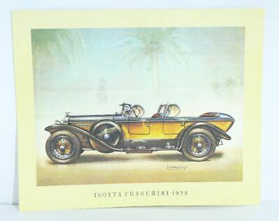 100% Vero Isotta Faschini 1928 Oldtimer Stampa Artistica Poster Immagine 37,5 X 30,5 Cm