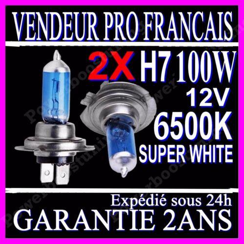 Lot de 2 Ampoules Effet Xenon H7 100W Halogène Lumière Blanche 6500K 12V white