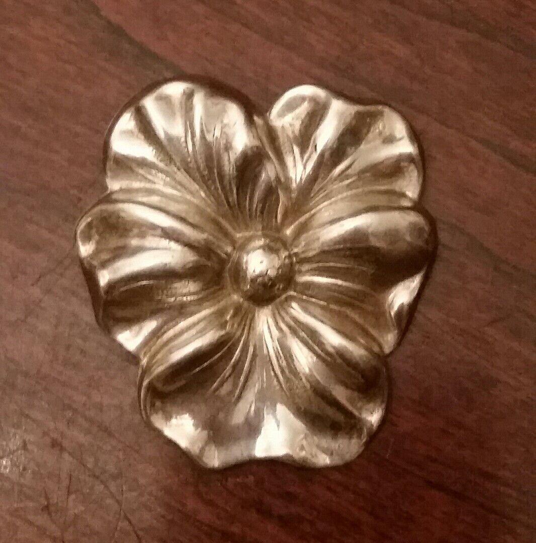 Vintage Pansy Brooch Enamel Gold White Violet Vio… - image 7