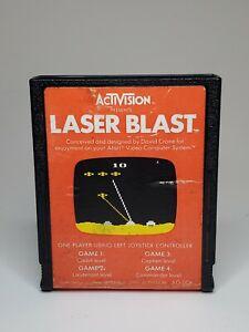 Laser Blast (Atari 2600, 1981) cartridge w/ Manual