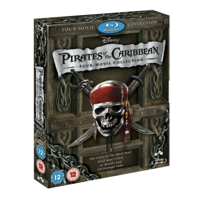 Pirates of the Caribbean 1 - 4 Movie Collection BLU-RAY COMPLETE Box Set 1 2 3 4