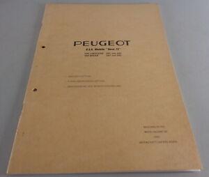 "Werkstatthandbuch  Peugeot 504 Limousine U.S.A Modelle ""Norm 73"" Stand 04/1973"
