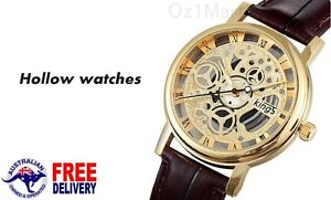 Luxury-Men-Women-Leather-Visible-Hollow-Transparent-Wristwatch-Watch-Analog
