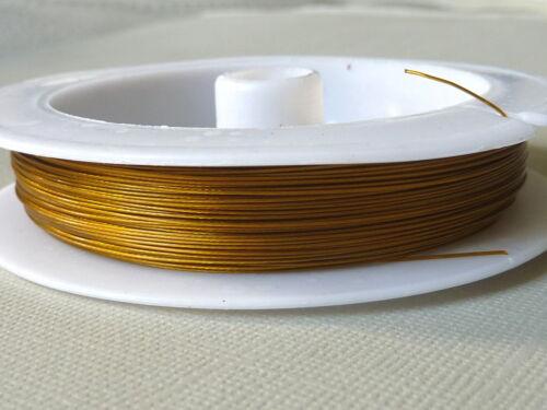 Schmuckdraht Juwelierdraht Stahlseide 0,45 mm gold 50m 2778