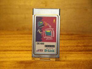 D-LINK-DE-660-ETHERNET-16-BIT-LAPTOP-PCMCIA-CARD-NO-DONGLE-UK-SELLER