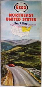 ESSO OIL SERVICE STATION NORTHEAST UNITED STATES HIGHWAY ROAD MAP ...