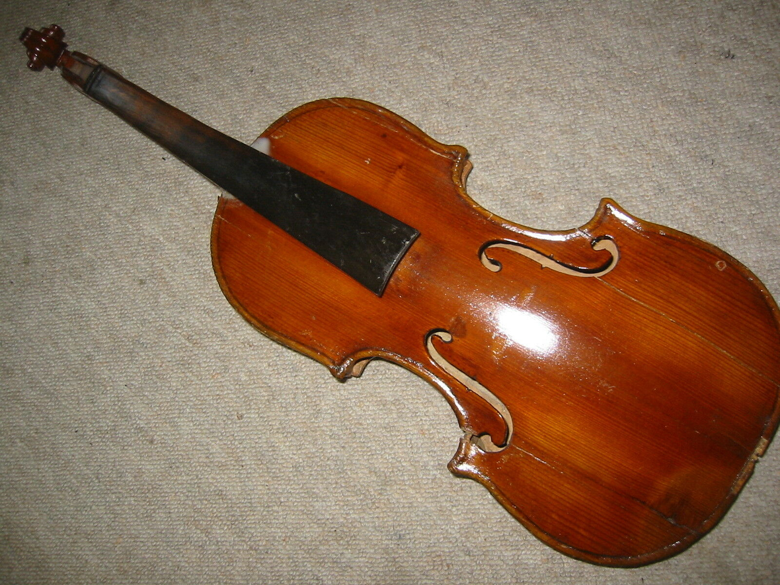 Interesting, old 4 4 Violin violon, nicely flamed  Angelus Soliani fecit Mutin