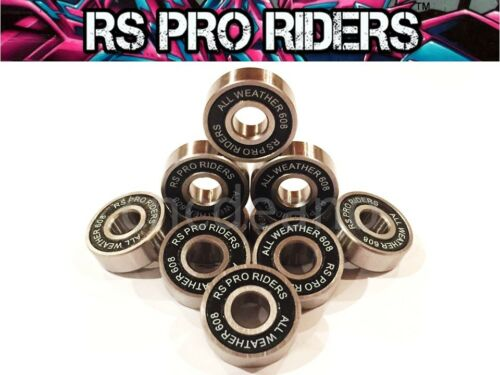 10 X 608 2rsss 8x22x7mm ALL WEATHER 100% STAINLESS STEEL SEALED BEARINGS