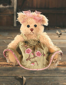 Teddy Bear 'Yvette' Settler Bears Handmade Dress Collectable Gift 25cms NEW