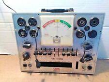 Vintage Eico 625 Ham Radio Electron Vacuum Tube Tester With Setups