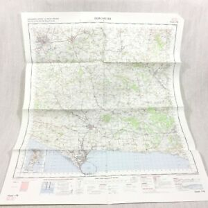 1970 Vintage Militare Map Dorchester Sherborne Yeovil Weymouth Bill Portland