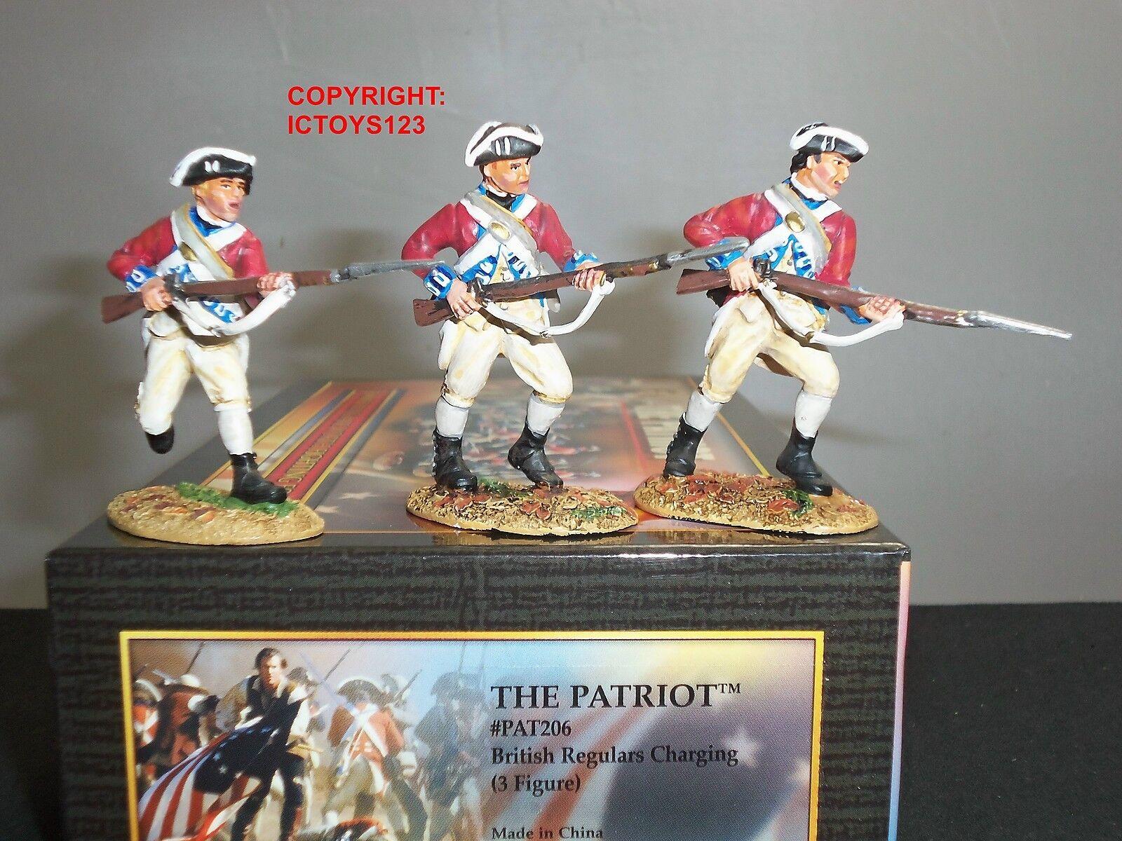 CONTE PAT206 PATRIOT BRITISH REGULARS CHARGING METAL TOY SOLDIER FIGURE SET